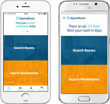 SpareRoom iPhone App and Android App - Download